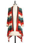 Sunset Stripe Cardigan - Multi, Red, Tan / Cream, Stripes, Casual, Green, Brown, Fall, Travel