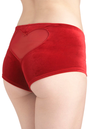 Loving Life Undies by Only Hearts - Red, Solid, Cutout