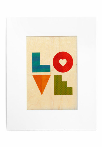 Love Lettered Print - Multi, Boho, Mod