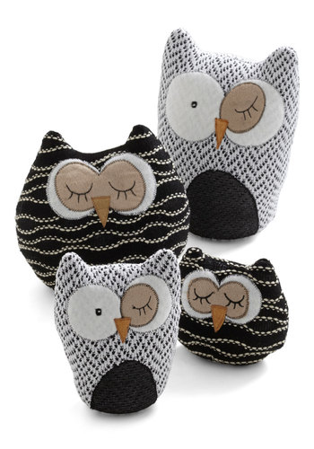 Owl in Plush Set - Multi, Dorm Decor, Owls