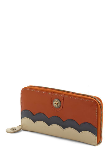 Pay Compliments Wallet in Pumpkin by Darling - Orange, Multi, Solid