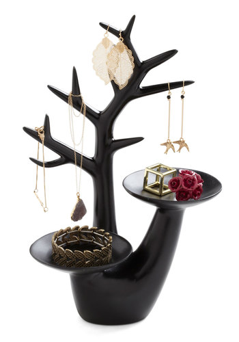 Haute on a Limb Jewelry Stand - Black, Minimal, Dorm Decor, Fairytale