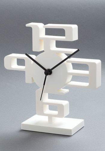 It's Been Space Ages Clock - White, Mid-Century, Minimal
