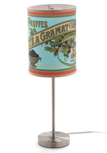 Moment of Truffle Lamp - Blue, Vintage Inspired, Dorm Decor, Orange, Green
