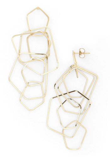 Abstract Aesthetic Earrings - Gold, Solid, Statement, Quirky, Minimal