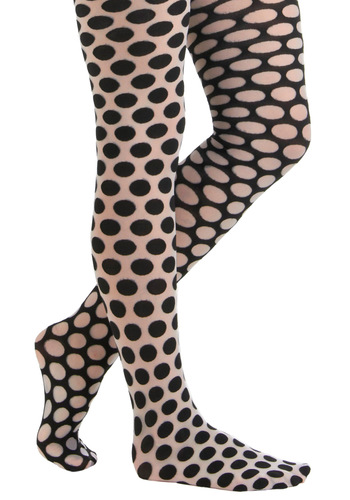 Betsey Johnson Dot a Double Take Tights by Betsey Johnson - Polka Dots, Sheer, Black, White