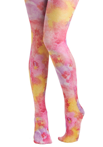 Candied Gams Tights - Multi, Tie Dye, Statement