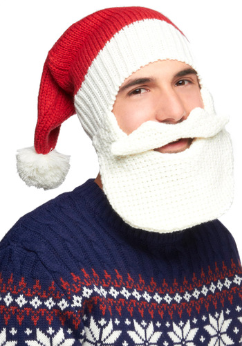 Claus for Celebration Hat - Red, White, Solid, Knitted, Quirky, Winter, Holiday, Guys