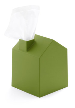 Nose Place Like Home Tissue Holder in Green