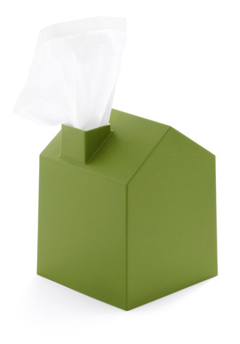 Nose Place Like Home Tissue Holder in Green - Green, Minimal, Dorm Decor, Good