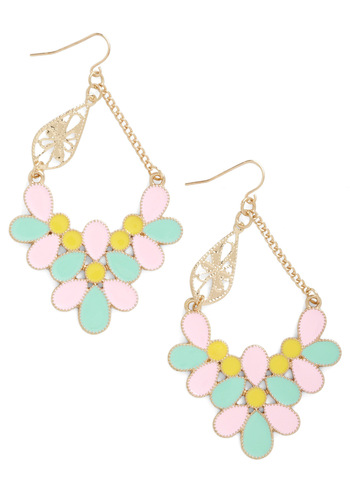 Refined the Time Earrings in Sunrise - Multi, Pastel, Mint