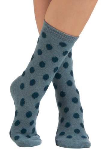 Dots Daily Socks in Blue - Blue, Polka Dots, Casual, Quirky