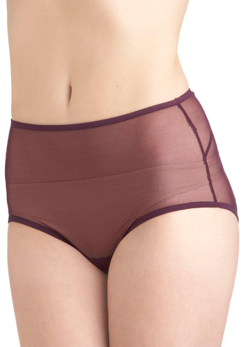 Alone Time Undies in Plum by Only Hearts - Purple, Solid, Sheer, Vintage Inspired