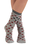 Heart to be Apart Socks - Grey, Multi, Print, Casual, Tis the Season Sale