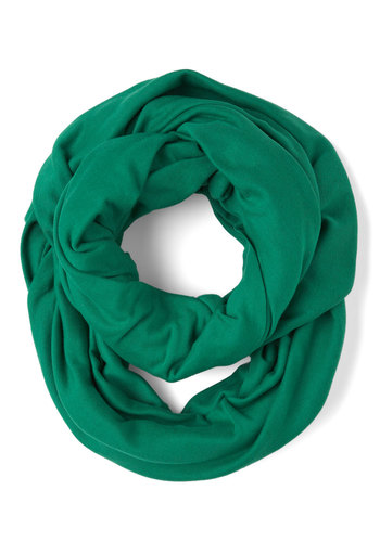 Start with the Basics Circle Scarf in Green - Solid, Cotton, Winter, Green, Tis the Season Sale, Variation