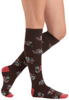 Garden on the Go Socks - Brown, Multi, Floral, Casual, Fairytale