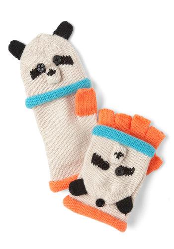 Cute as Can Bear Convertible Gloves - Multi, Buttons, Kawaii, Winter, Knitted