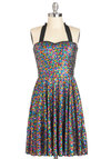 Glitz All or Nothing Dress - Mid-length, Multi, Sequins, Party, Holiday Party, Luxe, Statement, Halter
