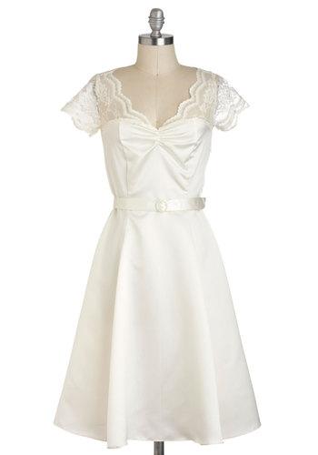 Black Tie Optimal Dress in Ivory