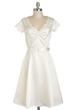 Black Tie Optimal Dress in Ivory