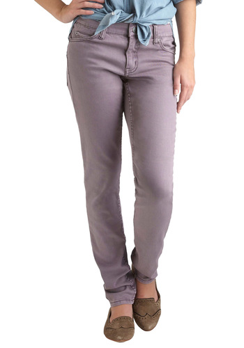 "Just Chill-lilacs Jeans (32"") - Cotton, Denim, Purple, Solid, Casual, Skinny"