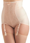 Abounding Beauty Contouring Undies in Rose - Tan, Cream, Solid, Lace, Vintage Inspired, Pinup, Sheer, International Designer, Variation, Boudoir