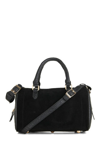 Chic Choice Bag - Black, Leather, Exposed zipper, Urban, Minimal