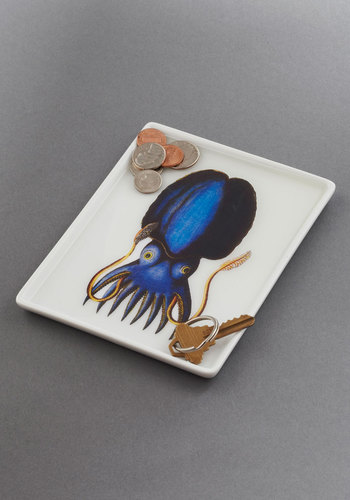 Thalassic Park Tray in Squid - Multi, Nautical, Dorm Decor, Blue, Quirky
