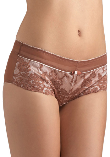 Exist as One Undies - Bows, Lace, Pinup, Vintage Inspired, Sheer, Satin, Bronze, Floral