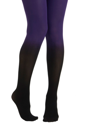 Got It Fade Tights in Purple - Purple, Black, Solid, Tis the Season Sale