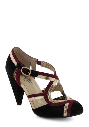 Petunia Heel in Wine by Seychelles - Black, Red, Gold, Mid, Leather, Holiday Party, Party, Vintage Inspired, Variation