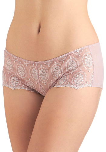 Pretty With a Purpose Undies - Pink, Bows, Lace, Sheer, Print
