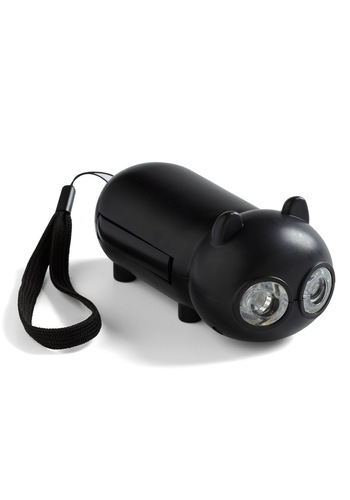 Fraidy Cat Flashlight by Kikkerland - Black, Quirky, Dorm Decor, Travel
