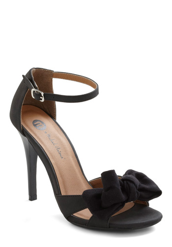 Forever Adorable Heel - Black, Solid, Bows, Mid, Formal, Holiday Party