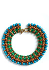 Beaded Bliss Necklace in Lake Landscape - Multi, Green, Blue, Brown, Beads, Party, Statement
