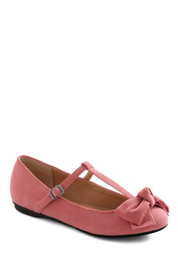 Boutique My Interest Flat in Pink - Pink, Solid, Bows, Flat, Casual, Variation