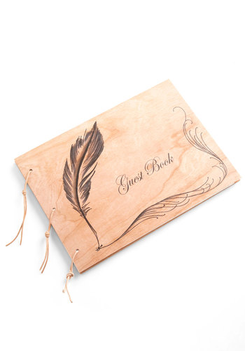 I Quill Remember You Guest Book - Multi, Rustic, Wedding, Vintage Inspired, Handmade & DIY