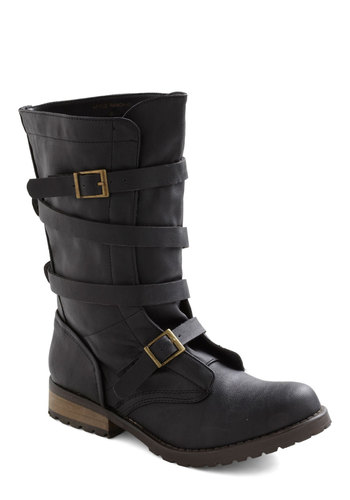 This Is My Stomp Boot - Black, Solid, Buckles, Short, Steampunk, Tis the Season Sale