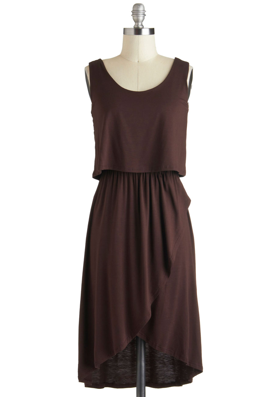 Brown Casual Dress