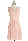 Pastel It Like It Is Dress - Mid-length, Pink, Solid, Pleats, Daytime Party, Pastel, A-line, Sleeveless, Graduation