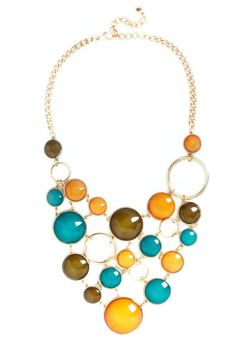 Astronomy Amor Necklace - Multi, Gold, Solid, Statement