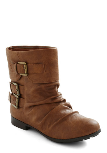 Something to Talk A-Boot - Tan, Buckles, Steampunk, Flat, Casual, Rustic