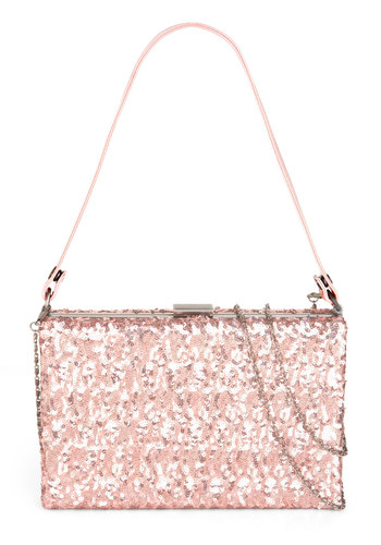 Radiant Romance Bag - Bronze, Solid, Chain, Glitter, Holiday Party, Fairytale, Pink, 20s