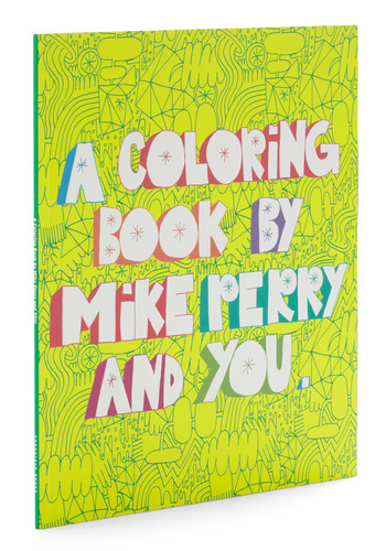 A Coloring Book by Mike Perry and You by Chronicle Books - Multi, Dorm Decor, Handmade & DIY, Quirky, Top Rated