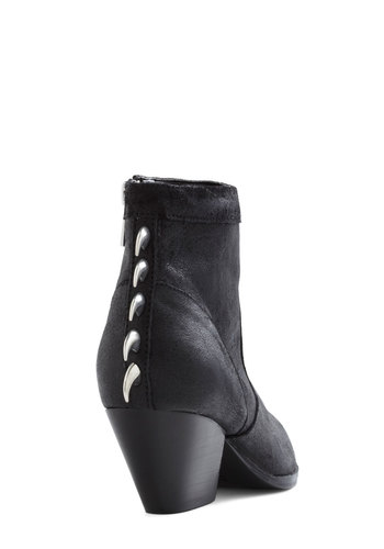 I Spike It Like That Bootie by Dolce Vita - Mid, Leather, Black, Studs, Urban, Luxe, Statement