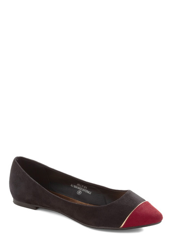 Theme Spirit Flat - Black, Red, Flat, Casual, Faux Leather