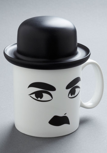Hat's Entertainment Mug - White, Black, 20s, Quirky, Good
