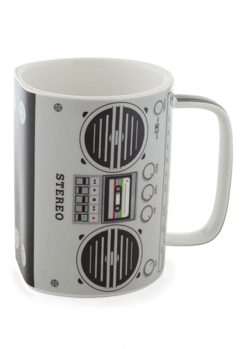 My Cup of Tea Mug - Grey, 80s, Music
