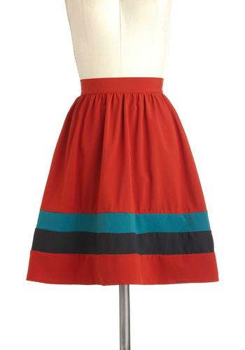 Skip to My New Skirt - Red, Blue, Black, A-line, Exclusives, Mid-length, Tis the Season Sale, Work