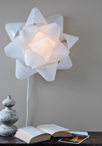Live in the Present Lamp Shade - White, Statement, Holiday, Dorm Decor, Minimal